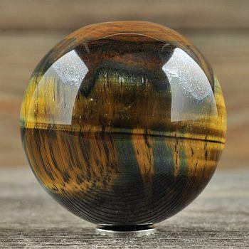 Sphère en pierre Oeil du tigre